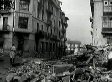 A destruição causada pelos conflitos da Guerra Civil Espanhola.