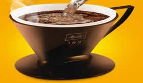 Filtração: preparo do café.