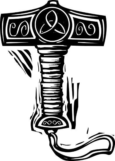 Mjöllnir, o martelo de Thor, foi utilizado pelos vikings como pingente a partir do século X