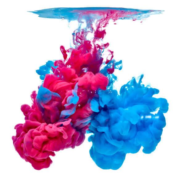 O número de estados das moléculas de tinta aumenta irreversivelmente com sua diluição em água.