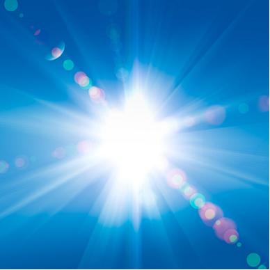 A luz solar é composta de três radiações: infravermelha, luz visível e ultravioleta