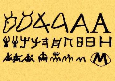 Os símbolos foram se desenvolvendo até formarem os primeiros alfabetos da Antigüidade.