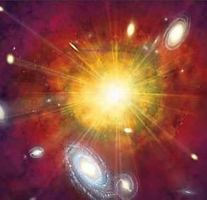 Segundo a teoria do Big Bang, o Universo teria se formado a partir de uma grande explosão.