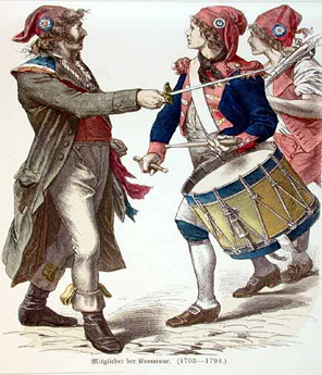 Os sans-culottes eram assim chamados pelo uso das calças compridas, diferentemente das vestimentas dos ricos.*