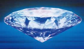 Diamante: forma alotrópica do carbono.