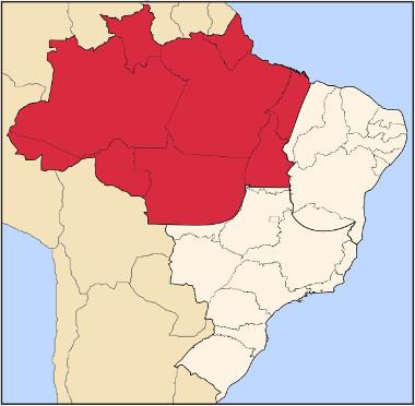 Localização do complexo regional amazônico