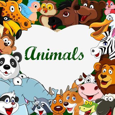 Nomes dos animais em inglês