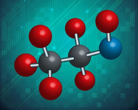 Representação de uma molécula de álcool etílico