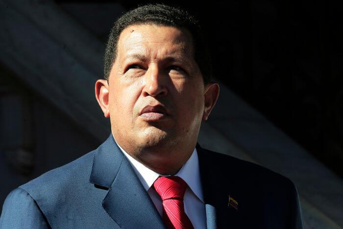 Hugo Chávez foi eleito presidente da Venezuela em 1998 e governou o país durante catorze anos (1999-2013).*