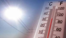 A temperatura é medida em °C e °F.