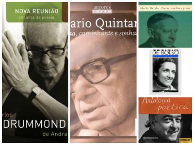 Drummond, Mario Quintana, Murilo Mendes, Cecília Meireles e Vinicius de Moraes: poetas que ampliaram o horizonte da poesia na Literatura brasileira.*