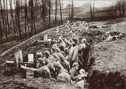 O posicionamento em trincheiras foi uma das principais características da Primeira Guerra