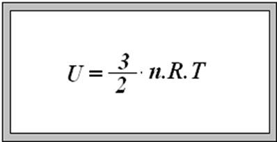 Equação que determina a energia interna de um gás