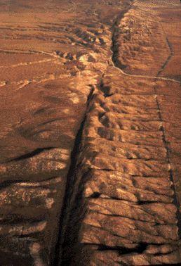 Fotografia da Falha de San Andreas