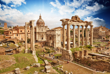Ruínas do antigo Fórum Imperial Romano