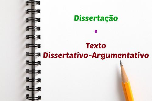 A Dissertação diferencia-se do texto dissertativo-argumentativo porque o segundo, além de refletir a respeito de um assunto, tem vistas à persuasão