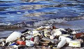 Poluição feita por polímeros.