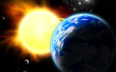 O Sol aquece a Terra por meio do processo de irradiação