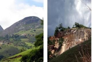 A atividade mineradora provoca danos irreversíveis na natureza.