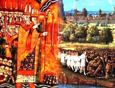 O Papa Urbano II convocou os cristãos europeus a integrar os exércitos do movimento cruzadista.