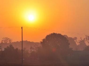 Em dias quentes, a umidade relativa do ar pode atingir níveis próximos dos 10%.