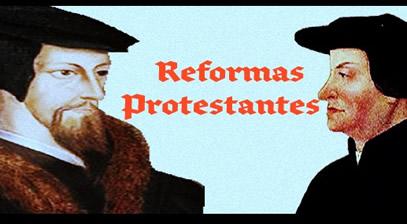 Huldrych Zwingli e João Calvino: os principais líderes da reforma no interior da Suíça.