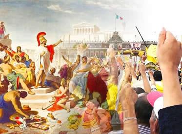 Democracia grega x Democracia contemporânea