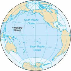 Localização da Fossa Oceânica mais Profunda