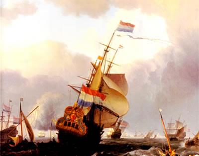As embarcações e as companhias de comércio foram o grande sustentáculo da colonização holandesa.