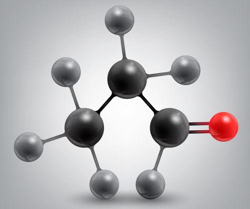 O propanal é um exemplo de substância em que não identificamos um carbono quiral