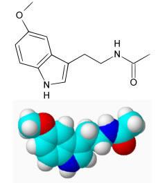 Molécula de melatonina