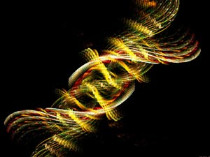 Representação do DNA processado pela bioinformática