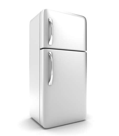 A geladeira é resfriada por meio do congelador