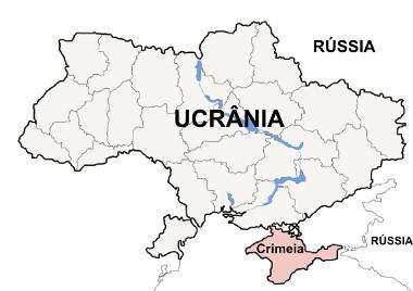 Localização da província da Crimeia na Ucrânia