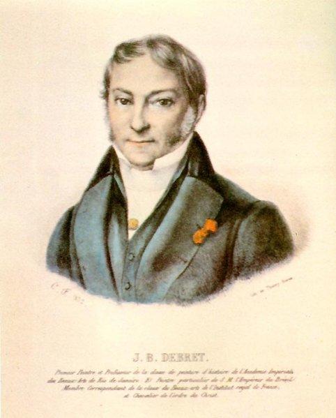 Acima, autorretrato de Jean-Baptiste Debret (1768-1848)