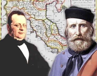 Cavour e Garibaldi: personagens da unificação italiana munidos de diferentes concepções políticas.