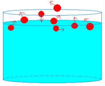 Algumas moléculas conseguem vencer a tensão superficial do líquido