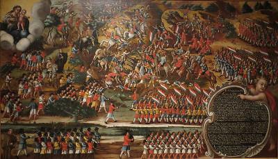 Quadro retratando uma das Batalhas dos Guararapes