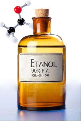 O etanol é o mais conhecido e utilizado de todos os álcoois