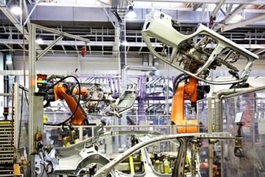 A produção de automóveis é o principal exemplo atual da automação industrial