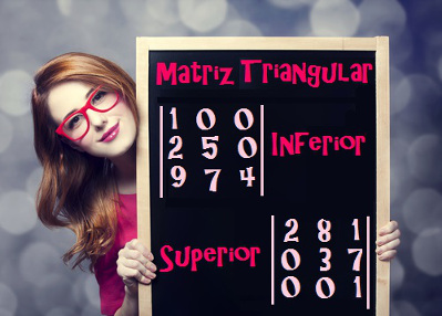 Matriz triangular é um caso especial de matriz quadrada e pode ser classificada em triangular superior ou triangular inferior