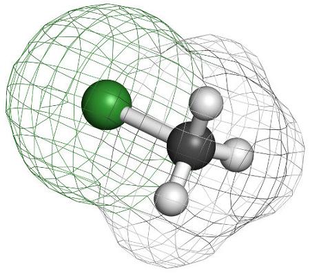 O clorometano é um composto obtido na halogenação de alcanos e é utilizado na produção de polímeros de silicone