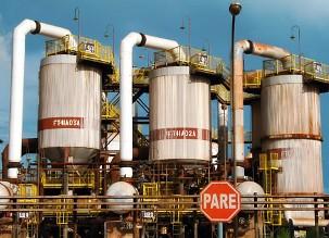 Instalações da indústria de alumínio (Albrás), localizada na cidade paraense de Barcarena.