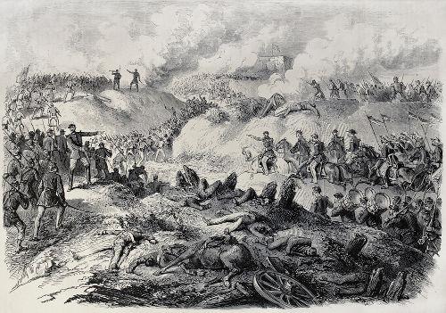 Ilustração do século XIX retrata combate travado entre as duas forças durante a Guerra do Paraguai