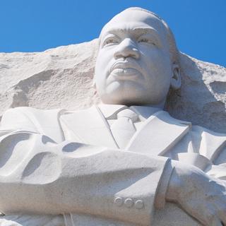Monumento a Martin Luther King em memorial de Washington, que leva seu nome.*
