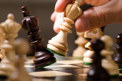 O jogo de Xadrez pode ser visto como uma metáfora da disputa pelo território
