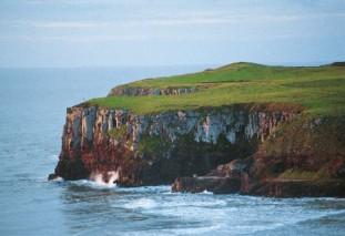 As falésias são exemplos de relevos modelados por meio da força das águas.