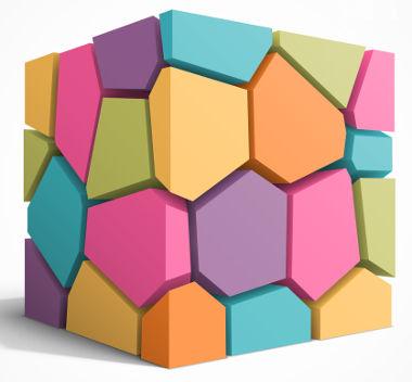 Cubo: sólido geométrico formado por faces quadradas
