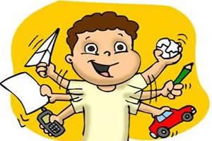 Na infância, são encontrados mais meninos do que meninas hiperativas.