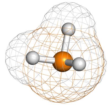 A fosfina é um exemplo de substância cujas moléculas apresentam geometria piramidal